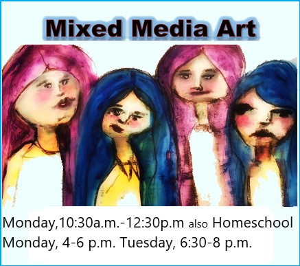 Join Mixed Media Classes today