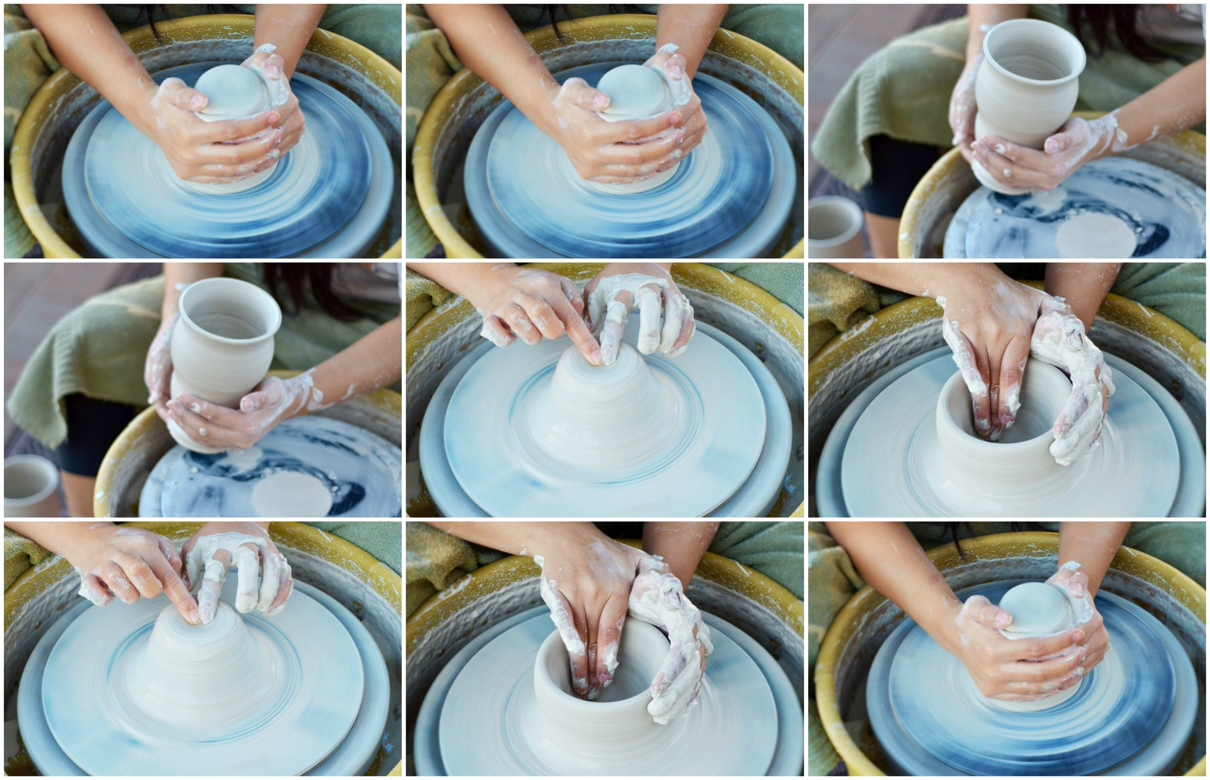 Pottery Wheel & Clay. Ages 13- Adult (Leila)
